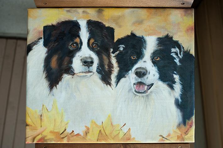 hundar målning
