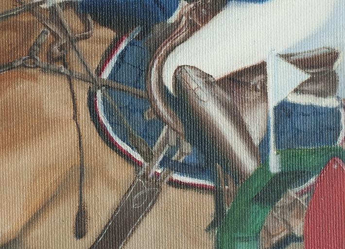 detalj av hästporträtt